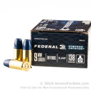 20 Rounds of 138gr SHP 9mm Ammo by Federal