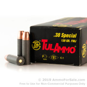 1000 Rounds of 130gr FMJ .38 Spl Ammo by Tula
