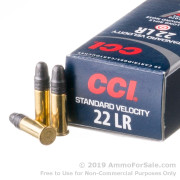 5000 Rounds of 40gr LRN .22 LR Standard Velocity Ammo by CCI
