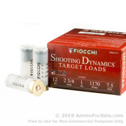 25 Rounds of 1 ounce #7 1/2 shot 12ga Ammo by Fiocchi Target Shooting Dynamics