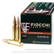 1000 Rounds of 62gr FMJBT .223 Ammo by Fiocchi