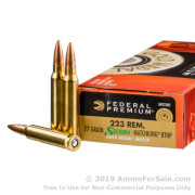 200 Rounds of 77gr HPBT .223 Ammo by Federal