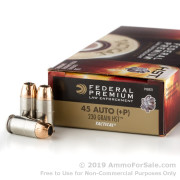 50 Rounds of 230gr HST JHP .45 ACP +P Ammo by Federal Law Enforcement