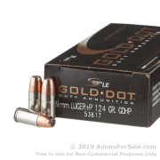 50 Rounds of 124gr HP 9mm + P Ammo by Speer
