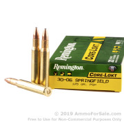 20 Rounds of 125gr PSP 30-06 Springfield Ammo by Remington