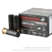 25 Rounds of 1 3/8 ounce #2 Shot 12ga Ammo by Winchester DryLok Super Steel
