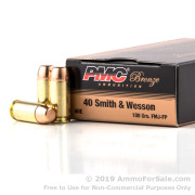 50 Rounds of 180gr FMJFN .40 S&W Ammo by PMC
