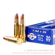 20 Rounds of 123gr SP 7.62x39mm Ammo by Prvi Partizan