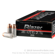50 Rounds of 95gr FMJ .380 ACP Ammo by CCI