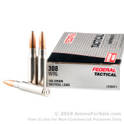 20 Rounds of 165gr SP .308 Win Ammo by Federal