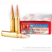 20 Rounds of 150gr SP .308 Win Ammo by Hornady