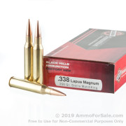 20 Rounds of 250gr MatchKing HPBT 338 Lapua Magnum Ammo by Black Hills Ammunition