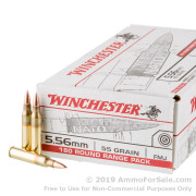 180 Rounds of 55gr FMJ 5.56x45 Ammo by Winchester USA
