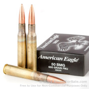 100 Rounds of 660gr FMJ .50 BMG Ammo by Federal