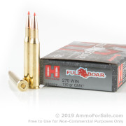 20 Rounds of 130gr GMX .270 Win Ammo by Hornady