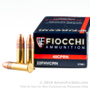 50 Rounds of 40gr CPRN .22 LR Ammo by Fiocchi