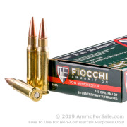 20 Rounds of 150gr FMJBT .308 Win Ammo by Fiocchi