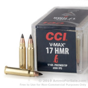 50 Rounds of 17gr V-MAX .17HMR Ammo by CCI