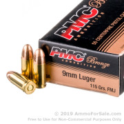 1000 Rounds of 115gr FMJ 9mm Ammo by PMC