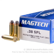 50 Rounds of 158gr SJSP .38 Spl Ammo by Magtech
