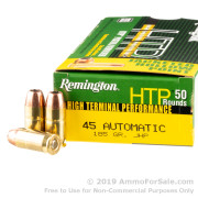 50 Rounds of 185gr JHP .45 ACP Ammo by Remington