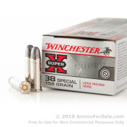 50 Rounds of 158gr LRN .38 Spl Ammo by Winchester