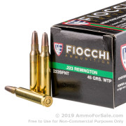 1000 Rounds of 45gr Frangible .223 Ammo by Fiocchi