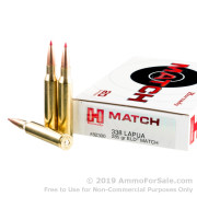 20 Rounds of 285gr ELD-Match 338 Lapua Magnum Ammo by Hornady