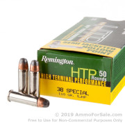 500 Rounds of 110gr SJHP .38 Spl Ammo by Remington RTP