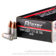1000 Rounds of 124gr FMJ 9mm Ammo by CCI