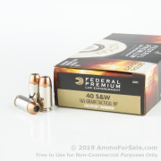 50 Rounds of 165gr JHP .40 S&W Ammo by Federal