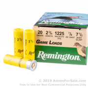 25 Rounds of 7/8 ounce #7 1/2 shot 20ga Ammo by Remington