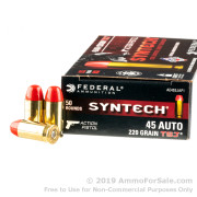 500 Rounds of 220gr Total Synthetic Jacket FN .45 ACP Ammo by Federal