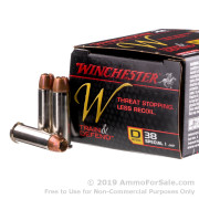 20 Rounds of 130gr JHP .38 Spl Ammo by Winchester