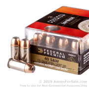 20 Rounds of 135gr JHP .40 S&W Ammo by Federal