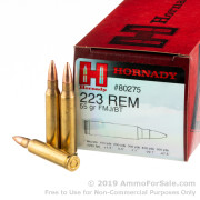 500  Rounds of 55gr FMJBT .223 Ammo by Hornady