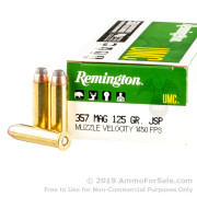50 Rounds of 125gr JSP .357 Mag Ammo by Remington