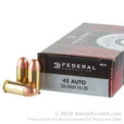 50 Rounds of 230gr FMJFN .45 ACP Ammo by Federal
