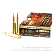 20 Rounds of 140gr MatchKing HPBT 6.5 Creedmoor Ammo by Federal