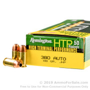 500  Rounds of 88gr JHP .380 ACP Ammo by Remington