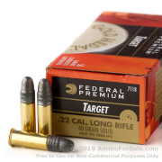 50 Rounds of 40gr LS .22 LR Ammo by Federal Gold Medal