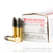 500 Rounds of 40gr LRN .22 LR Ammo by Winchester