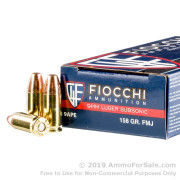 50 Rounds of 158gr FMJ 9mm Ammo by Fiocchi