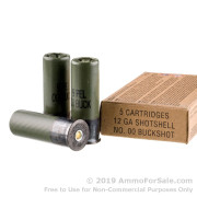 5 Rounds of  00 Buck 12ga Ammo by Winchester