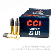50 Rounds of 40gr LRN .22 LR Quiet Ammo by CCI