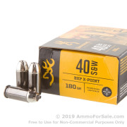 20 Rounds of 180gr JHP .40 S&W Ammo by Browning