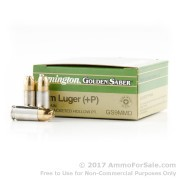 25 Rounds of 124gr JHP 9mm Ammo by Remington
