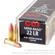 100 Rounds of 40gr CPRN .22 LR Ammo by CCI