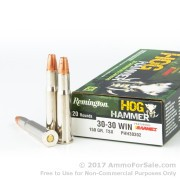 20 Rounds of 150gr TSX 30-30 Win Ammo by Remington Hog Hammer