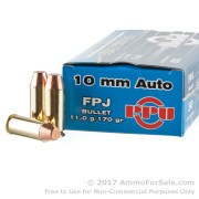 500  Rounds of 170gr FPJ 10mm Ammo by Prvi Partizan